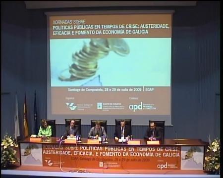 Clausura, Alberto Núñez Feijóo, presidente da Xunta de Galicia - Xornadas sobre Políticas Públicas en tempos de crise: austeridade, eficacia e fomento da economía de Galicia